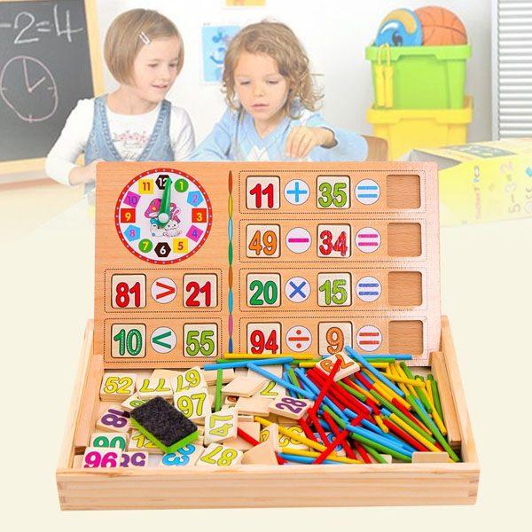 Bảng gỗ học toán 2 mặt cho bé