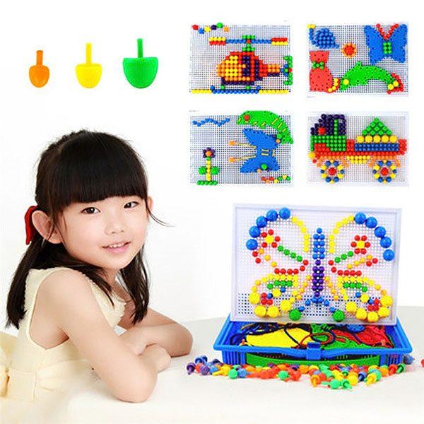 Bộ đồ chơi ghép hạt nhựa Creative Mosaic cho bé